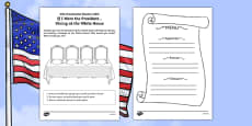 If I Were the President! Dining at the White House Activity Sheet
