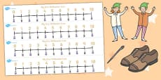 The Elves and the Shoemaker Number Lines 0-10