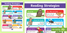 * NEW * Guided Reading Strategies Display Poster