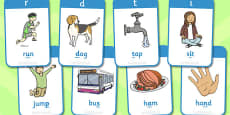 Active Literacy Phonics Programme Stage 1 Flashcards
