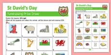 Elderly Care St David's Day Fundraising Sheet