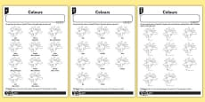 Colours Activity Sheet Spanish