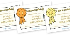 Have You Filled a Bucket Today Filler Certificates