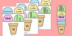 Descompunerea numerelor pe înghețată - Joc matematic