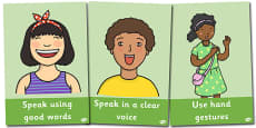 SEAL Guidance On Listening And Speaking Display Posters