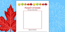 Canada Day Passport Activity