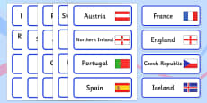 Euro 2016 Countries Word Cards (European Championships 2016)