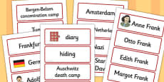 Anne Frank Word Cards