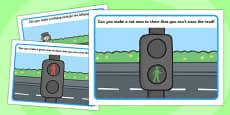 Road Safety Playdough Mats