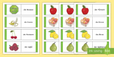 * NEW * Different Fruits Card Game German