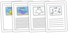 Black and White Lined Writing Frames to Support Teaching on Commotion in the Ocean
