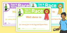 Sports Day Race Certificates