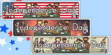 Independence Day Display Banner Pack