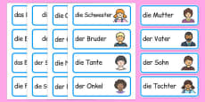 My Family Word Cards German