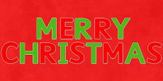 Merry Christmas Display Letters