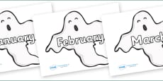 Months of the Year on Ghosts (Plain)