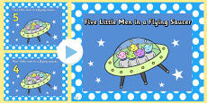Five Little Men in a Flying Saucer PowerPoint