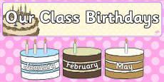 Editable Birthday Display Set Cakes
