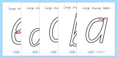 Large A-Z Tracing Letters Precursive