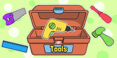 Editable Toy Tools and Toolbox