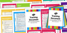 Pocket Size EYFS Early Years Outcomes Tracking Document Pack Birth 50 Months
