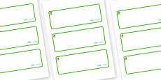 Acorn Themed Editable Drawer-Peg-Name Labels (Blank)