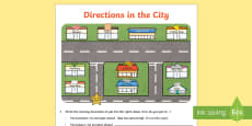 Directions in the City Activity Sheet