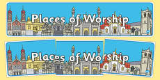 Places of Worship Display Banner