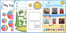 Seaside Themed KS1 Lesson Plan Ideas and Resource Teaching Pack