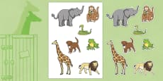 Stick Puppets to Support Teaching on Dear Zoo