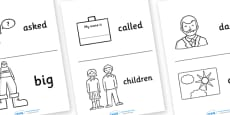 High Frequency Sight Words Booklet Images