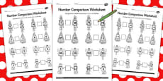 The Nutcracker Number Comparison Activity Sheets
