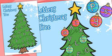Australia - Upper and Lowercase Letter Christmas Tree Matching Activity
