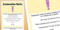 Exclamation Marks Punctuation Poster A2