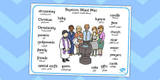Baptism Word Mat Arabic Translation