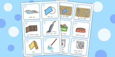 Special Needs Communication Cards Household Chores Boy - Australia