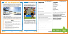 * NEW * Hull City of Culture 2017 KS2 Differentiated Reading Comprehension Activity