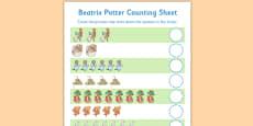 Beatrix Potter Counting Sheet