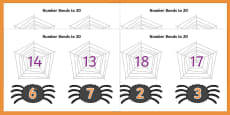 Number Bonds to 20 (on Spiders and Webs)