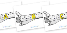 A-Z Alphabet on Space Shuttles