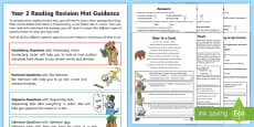 * NEW * SATs Survival Year 2: Reading Revision Activity Mat Pack 1
