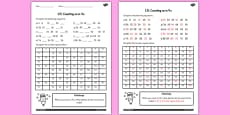 Counting in 4's Activity Sheet