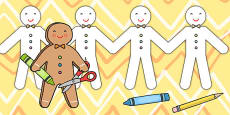 The Gingerbread Man Paper Chain