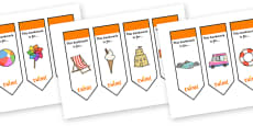 Editable Seaside Bookmarks