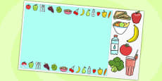 Healthy Eating Editable PowerPoint Background Template
