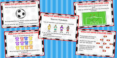 World Cup Maths Challenge Cards KS2