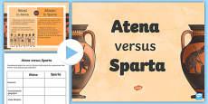 Sparta versus Atena Pachet cu activități