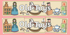 Old Toys Display Banner