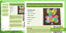 * NEW * Shamrock Stained-Glass Window Step-by-Step Instructions