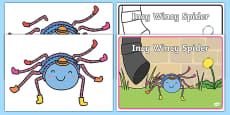 Incy Wincy Spider Counting Activity Pack
